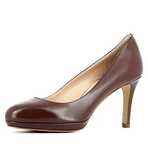Tacco Scarpe Grigio Col Bianca Evita Donna Shoes wIBnCqxE1