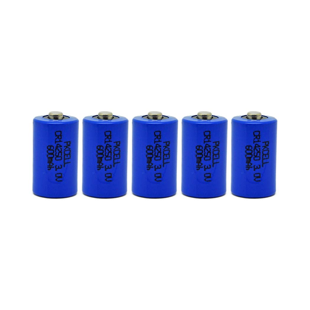 5 Pack 1/2AA CR14250 3V 600mAh Lithium Batteries
