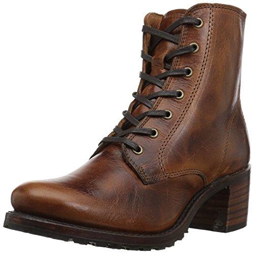 Frye Womens Sabrina 6g Lace Up Boot Cognac