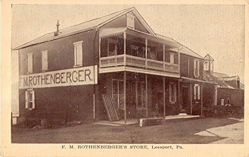 Leesport Pennsylvania street scene F M Rothenberger's Store antique pc - M Street Stores