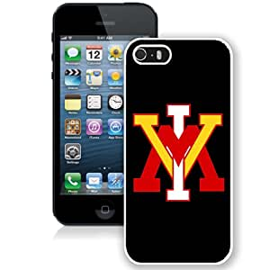 Beautiful And Popular Designed With NCAA Big South Conference VMI Keydets 2 Protective Cell Phone Hardshell Cover Case For iPhone 5S Phone Case White