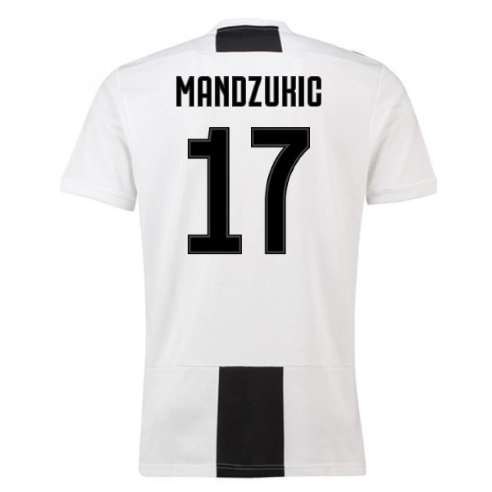2018-19 Juventus Home Football Soccer T-Shirt Trikot (Mario Mandzukic 17)