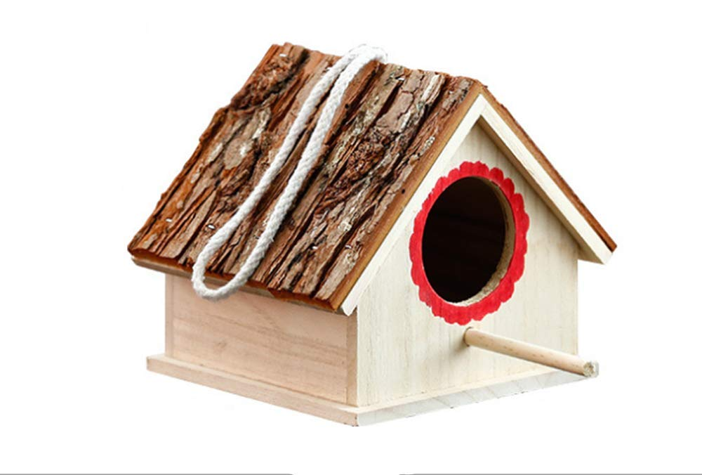 Honyuton Bird House pet nest Warm Cottage Garden Decoration and Home Decor