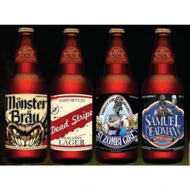 Halloween Themed Beer (Halloween Beer Bottle Stickers (12)