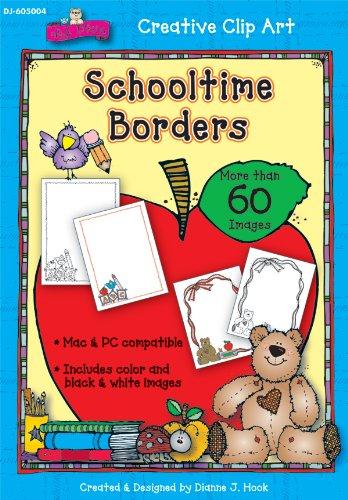 Schooltime Borders Clip Art