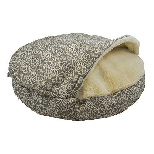 Snoozer Pet Products - Luxury Cozy Cave Dog Bed - Wag Collection | Large - Gondola Grey