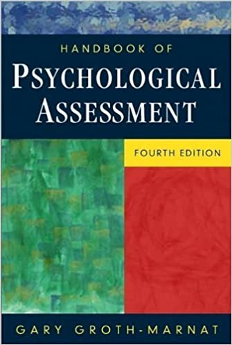 By Gary Groth-Marnat: Handbook of Psychological Assessment Fourth (4th) Edition
