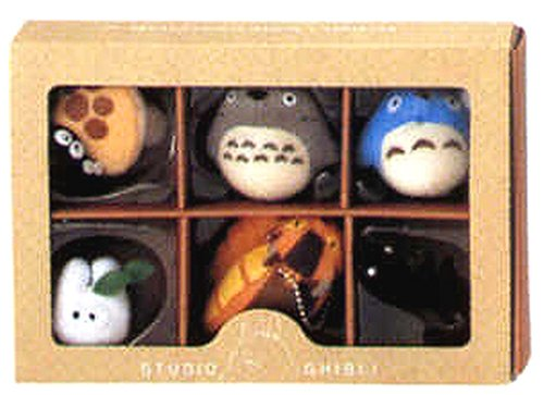Studio Ghibli Complete Box 6 Figure Mascots with Key Ball Chain Ver.1 by Big Star