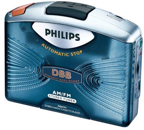 Philips AQ6591 AM/FM Stereo Radio Cassette Player