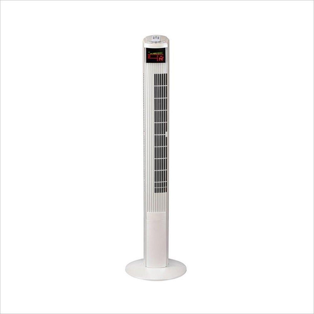 NAN リモートコントロール垂直フロアタワーファンホームタイミングタワータイプファンサイレントリーフレスコールドエア ファン (色 : 白)  白 B07FZV4VCZ