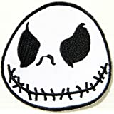 Nightmare Before Christmas Halloween Jack Skellington Cartoon Kid Jacket Polo T shirt Patch Sew Iron on Embroidered Costume Cloth