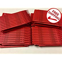 100 Red Plastic Seals Security Numbered - Trucker or Trailer For standard containers truck – vans – doors – airline – duty-free shops – supermarkets – storage-controlling