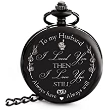 c7f9ff4612bba ... Roman Numerals Pocket Watch. € 14. Valentines Gift for Husband