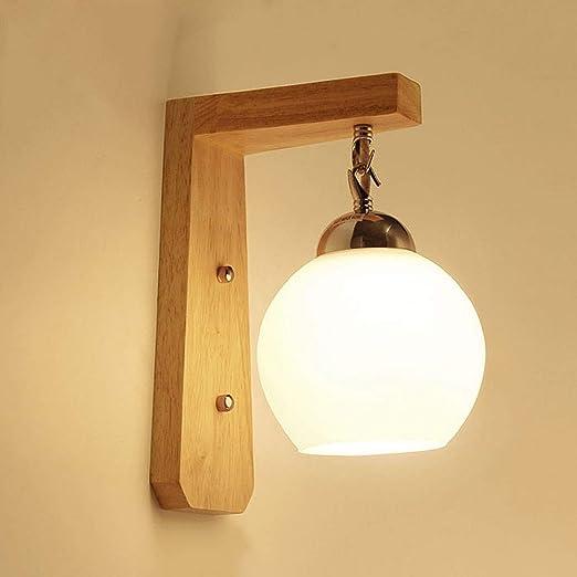 GAOXINGSHOP lámpara de Pared Nordic LED Lámpara de Pared de Escalera de Madera Maciza con Ahorro de energía, Pasillo Personalizado luz de la Pared Pesca Creativa lámpara de Noche A+: Amazon.es: Hogar