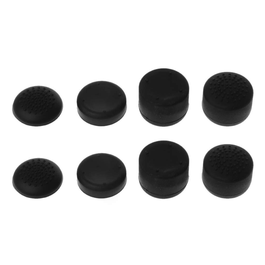 Amarzk 8pcs contr/ôleur analogique Gamepad lev/é Pouce b/âton Caps Pouce poign/ées Anti-d/érapant /étui en Silicone Couverture Noir pour Nintend commutateur Console Joy-Con