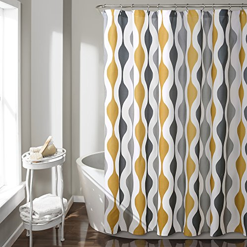Lush Decor Mid Century Geo Shower Curtain, 72