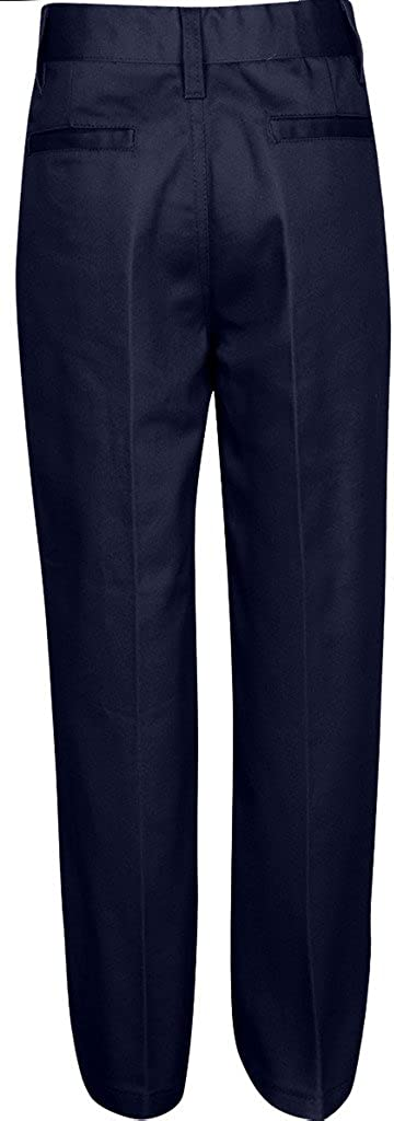 Navy Khaki Premium Flat Front Pants for Boys with Adjustable Waist Grey Black