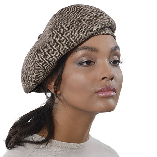 Eric Javits Designer Women's Luxury Headwear - Tweed Beret - Brown Mix by Eric Javits