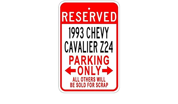 1993 93 CHEVY CAVALIER Z24 Parking Sign