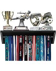 Paisa Home - Medal Hanger & Trophy Shelf- Use as a Medal Display with Shelf, Trophy Rack, Medal Holder and Medal Display Hanger, Race Medal Display and Medal Hanger with Shelf