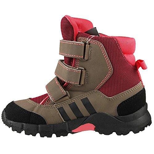 adidas Niños Velcro Botas de invierno Holt Anna Snow CF Rosa