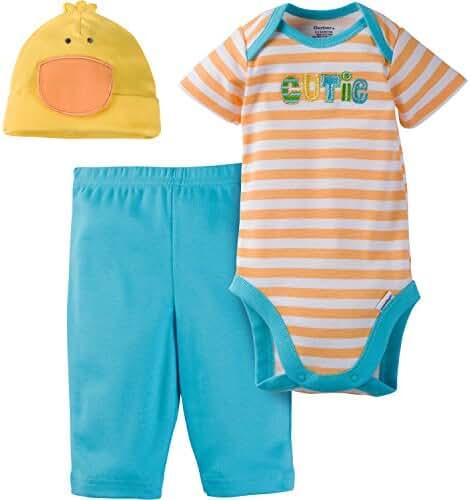 Gerber Unisex Baby 3 Piece Bodysuit, Cap, and Pant Set