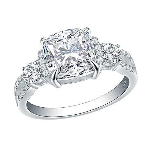 - Newshe Wedding Ring For Women 2ct Princess White Cz 925 Sterling Silver Engagement Size 8