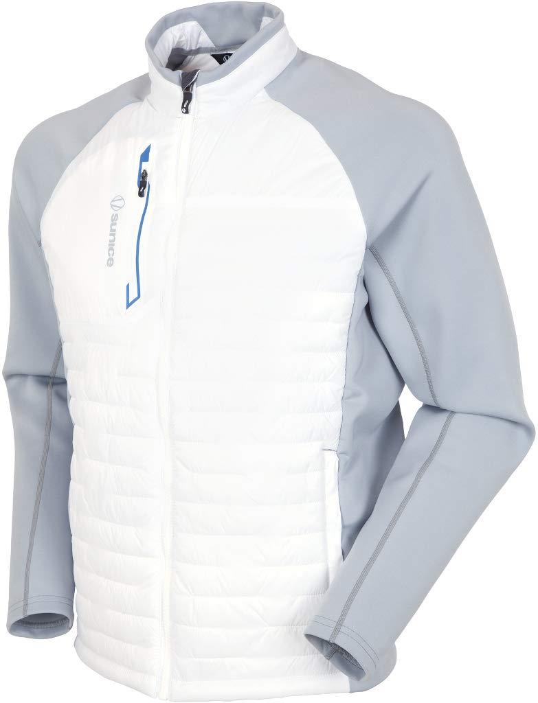 Men's Sunice Hamilton Climaloft Thermal Jacket Pure White/Magnesium Large by Sunice Sports