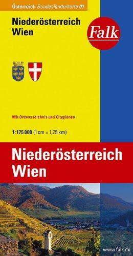 Falk Bundesländerkarte Österreich Niederösterreich und Wien 1:175 000