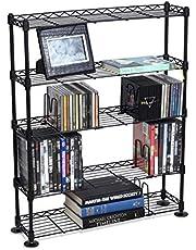 Atlantic 3020 Maxsteel 432 CD/228 DVD/114 VHS/ 8-Tier Media Rack (Black)