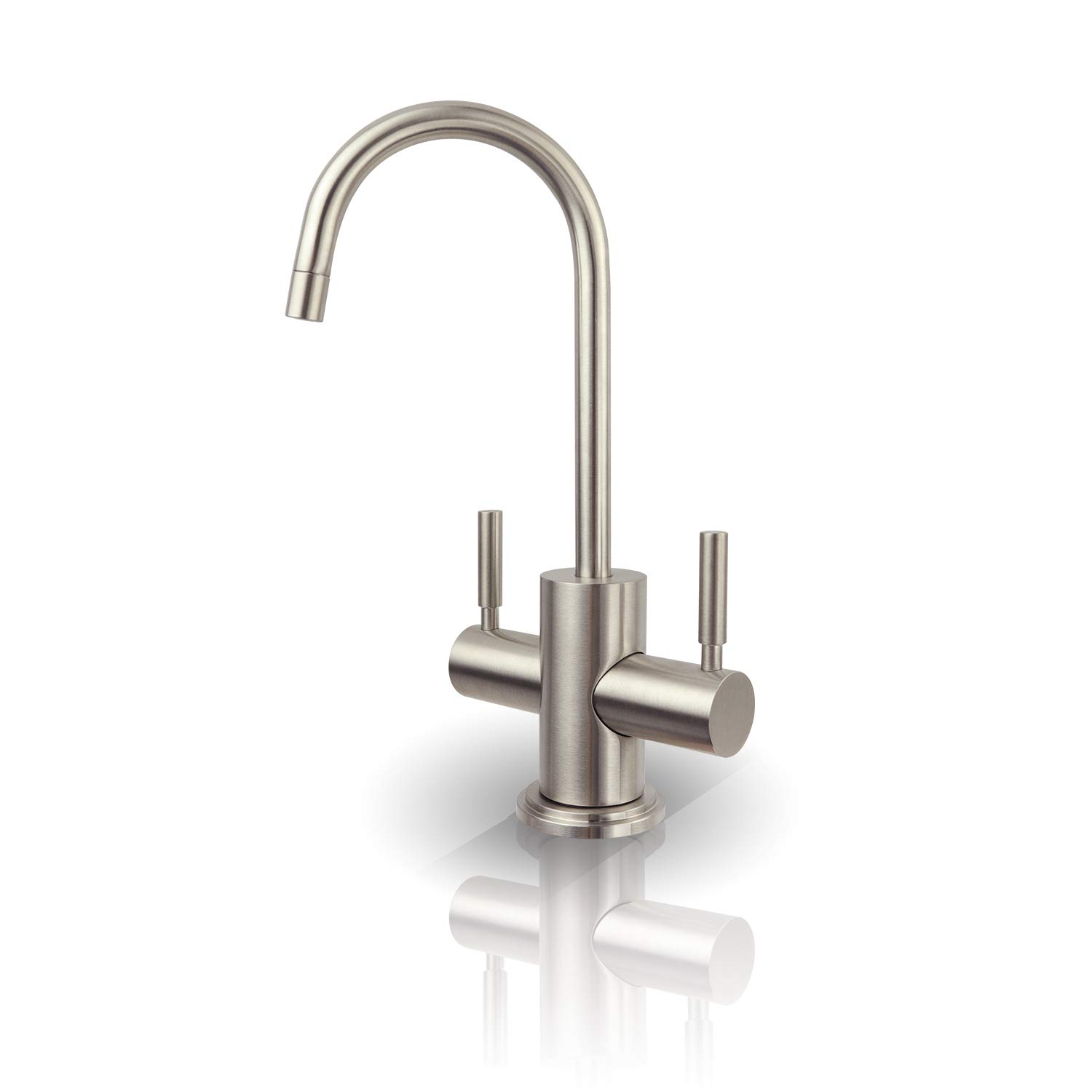 APEC Water Systems FAUCET-HC-WST-NP Instant Hot and Cold Reverse Osmosis Drinking Water Dispenser Faucet Brushed Nickel by APEC Water Systems