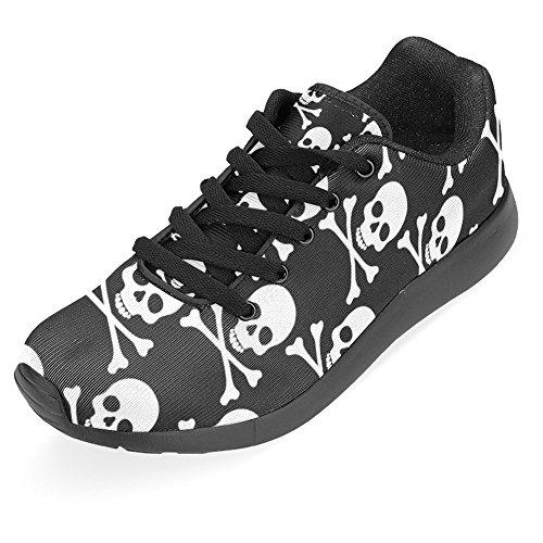 InterestPrint Womens Jogging Running Sneaker Lightweight Go Easy Walking Casual Comfort Sports Running Shoes Abstract Floral Skulls Multi 1 ysGLyUG