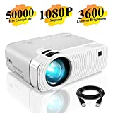 Mini Projector, DracoLight 3600 Lumens Portable Projector Ideal 180