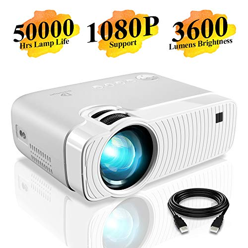 Mini Projector, DracoLight 3600 Lumens Portable Projector Ideal 180