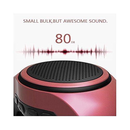 SUERSUN Speaker Watch, Wearable Speaker Mini Multifunctional Bluetooth Sports Speaker, TF Card MP3 Music Player, FM Radio, Handsfree, Selfie, Red Photo #8