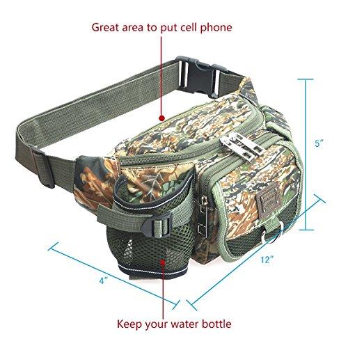 Outdoor Taille Pack, Angeln Tackle Bag mehrere der Tasche Waist Pack tragbar unterwegs Wandern Radfahren Taschen
