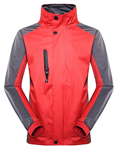 Hiking Insulated Jacket Jacket Rain Generic Red Men's Hooded Waterproof q0wY7EY