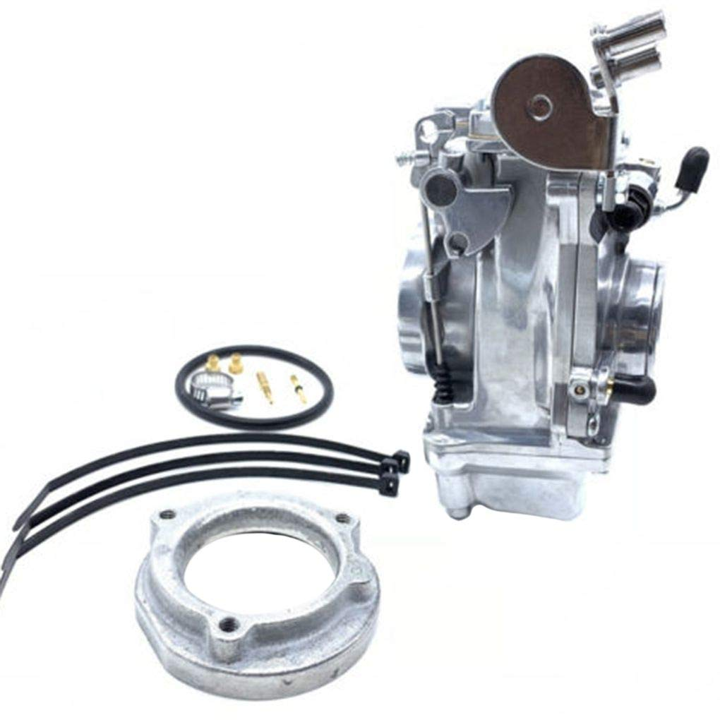 Topker Motorcycle Engine HSR42mm Carburetor Replacement for Davidson Evo Twin Cam TM42 90-96 883 by Topker (Image #5)