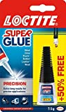 Super Glue Loctite Precision/Extra Strong Liquid Glue for Metal, Ceramics, Plastic, Rubber, Leather, Wood/1 x 5g Bottle