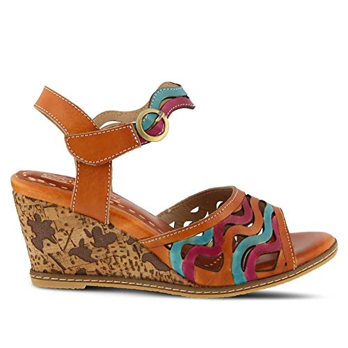 L`Artiste Multi Womens Camel Melania Sandal 8w8YrqC