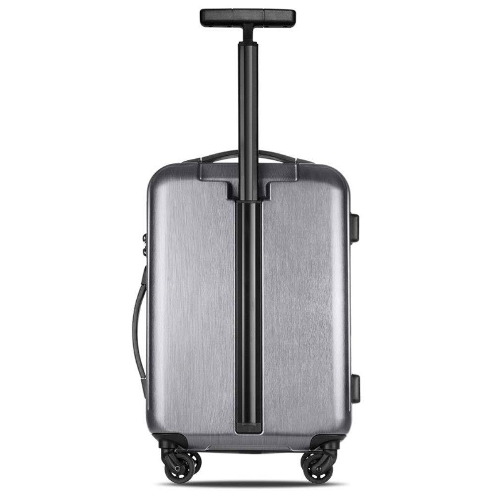 新しいシングルトロリー荷物起毛耐性フラワーボードシャーシサイレントホイールビジネススーツケース牽引ボックス (Color : Dark gray, Size : 20 inches)   B07RLJBB8N