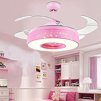 Tipton Light Ceiling Fan Light with Remote Control Pink Ceiling Fan ...