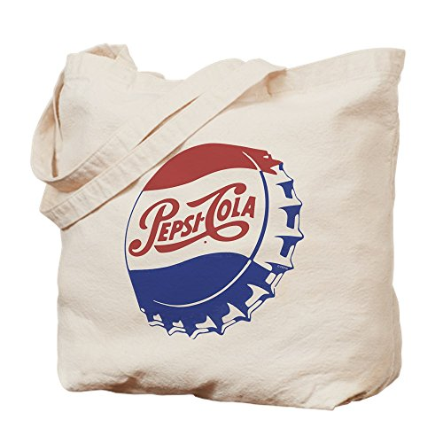 CafePress - Pepsi Bottle Cap - Natural Canvas Tote Bag, Cloth Shopping ()