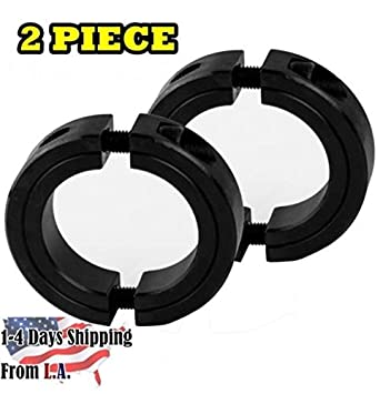 2 Pcs Double Split Shaft Collar 1 Bore Width 1//2 Inch Oxide Set Style Black