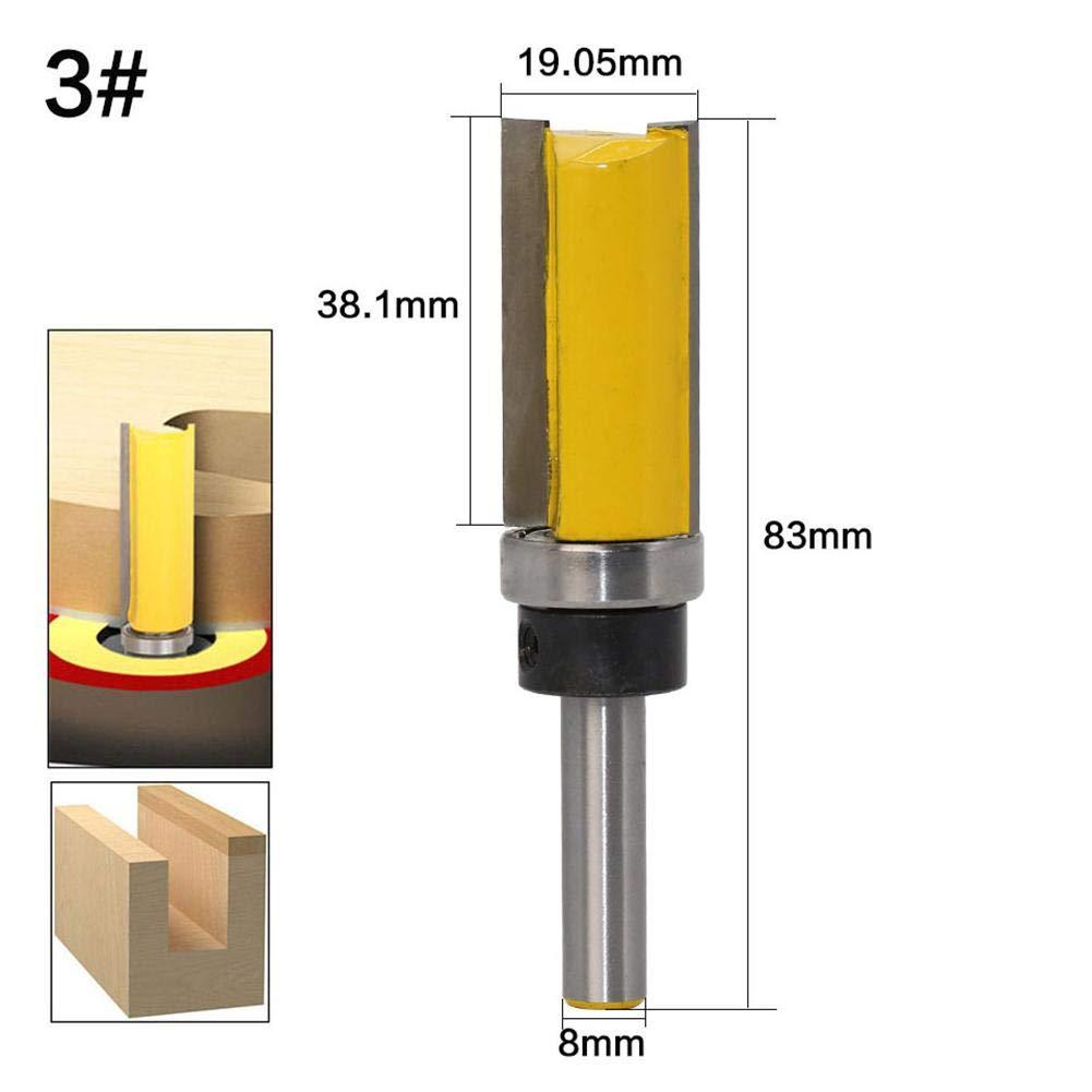 cortadora de Fresas Trimmer Edger con Mango de 8 mm Ingeniously Herramienta de Corte de carpinter/ía