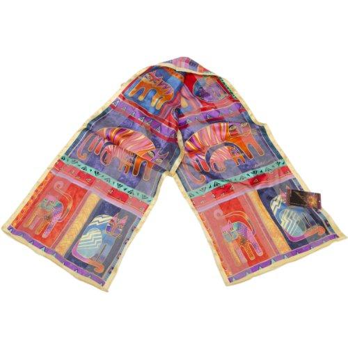 Laurel Burch foulards-Fantastic féline Totem Classic