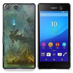 Queen Pattern - FOR Sony Xperia M5 - Fantasy Temple - Cubierta del caso de impacto con el patr???¡¯???€????€?????n Art Designs