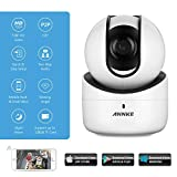 ANNKE 720p IP Camera, 1.0Megapixel Wireless Camera Wi-Fi PT Camera with 2-Way Audio and Remote Pan/Tilt (White)