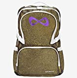 Nfinity Sparkle Backpack, Gold with White Logo