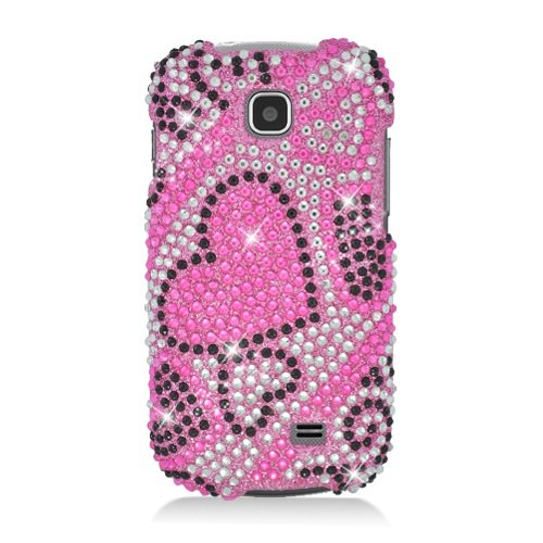 Boundle Accessory for At&t Samsung Galaxy Appeal I827 - Heart Rhinestones Hard Case Protector Cover + Lf Stylus Pen